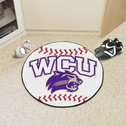 Western Carolina University Ball Shaped Area Rugs (Ball Shaped Area Rugs: Baseball)