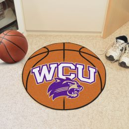 Western Carolina University Ball Shaped Area Rugs (Ball Shaped Area Rugs: Basketball)
