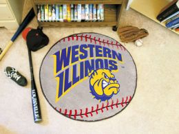 Western Illinois University Ball Shaped Area Rugs (Ball Shaped Area Rugs: Baseball)