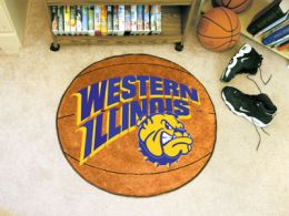 Western Illinois University Ball Shaped Area Rugs (Ball Shaped Area Rugs: Basketball)