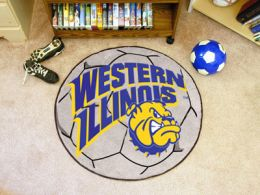 Western Illinois University Ball Shaped Area Rugs (Ball Shaped Area Rugs: Soccer Ball)