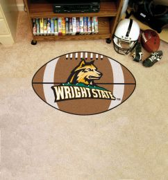 Wright State University Ball Shaped Area Rugs (Ball Shaped Area Rugs: Football)