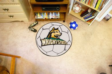 Wright State University Ball Shaped Area Rugs (Ball Shaped Area Rugs: Soccer Ball)